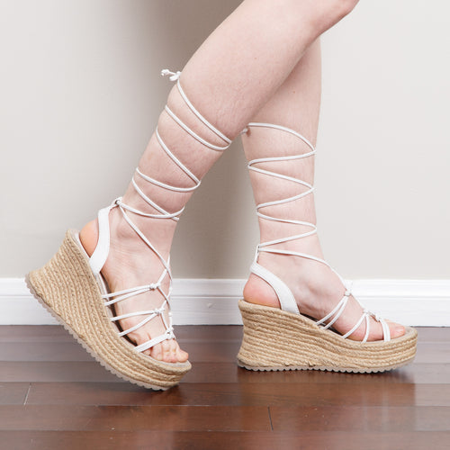 90s/2000s Chunky Lace Up Wedges