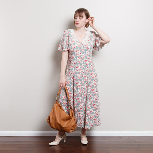 80s Button Up Peasant Dress
