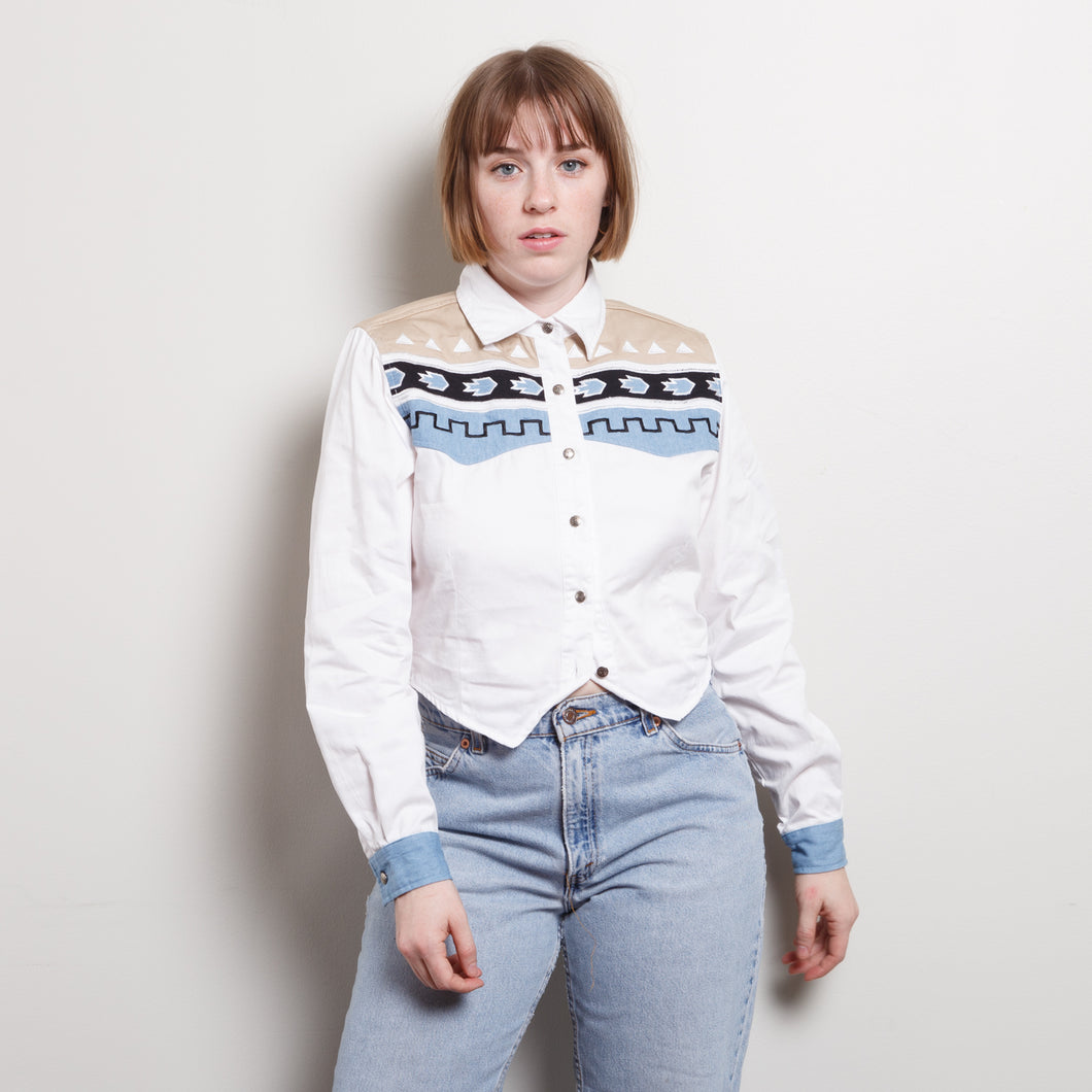 80s Southwestern Crop Top