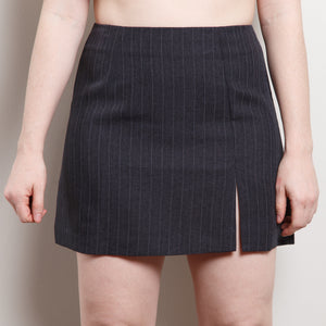 90s Pinstripe Mini Skirt