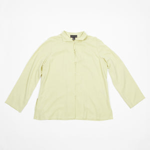 Silk Lime Button Up