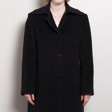 Load image into Gallery viewer, 90s/2000s Black Wool Blend Peacoat