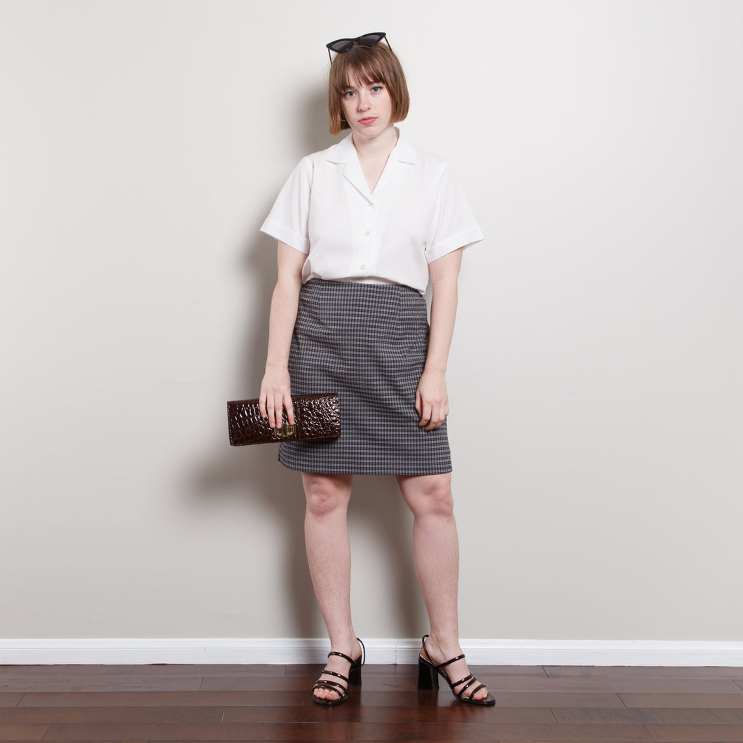 90s High Waisted A-Line Skirt