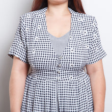Load image into Gallery viewer, Gingham Daisy Dress