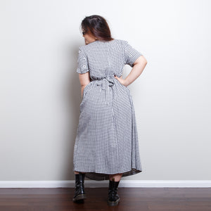 Gingham Daisy Dress
