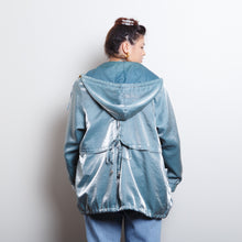 Load image into Gallery viewer, Metallic Blue Rain Coat