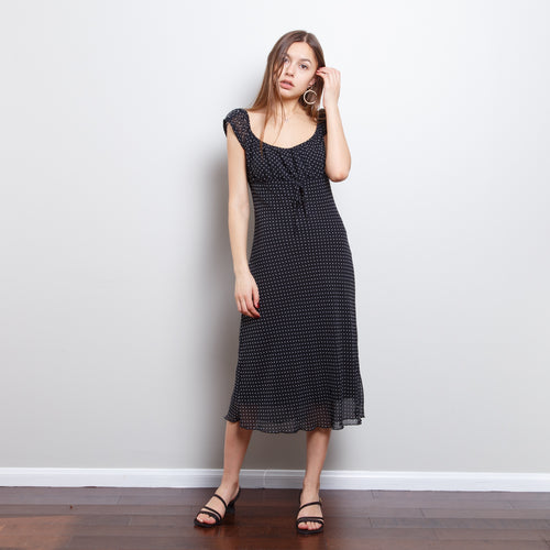 90s Midi Polka Dot Dress