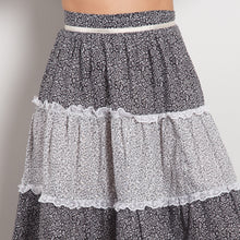 Load image into Gallery viewer, Vintage High Waisted Peasant Skirt