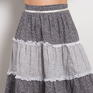 Vintage High Waisted Peasant Skirt