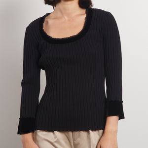 Silk Flared Sleeves Sweater