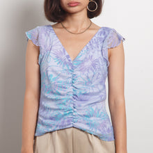 Load image into Gallery viewer, 90s Floral Frill Top