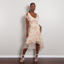 Load image into Gallery viewer, Pale Yellow Floral Dress