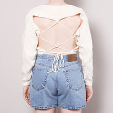 Load image into Gallery viewer, Open Back 80s Cropped Sweater