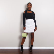 Load image into Gallery viewer, White High Waisted Pencil Skirt