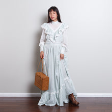 Load image into Gallery viewer, 60s/70s High Neck Victorian Dress