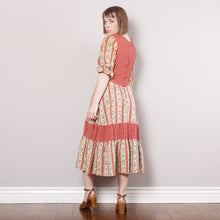 Load image into Gallery viewer, 70s Boho Patterned Dress