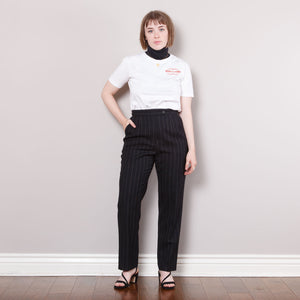 Vintage Striped Wool Trousers