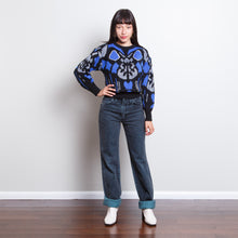 Load image into Gallery viewer, Sequined Black and Blue Sweater