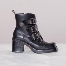 Load image into Gallery viewer, Chunky Harley Davidson Booties in Black