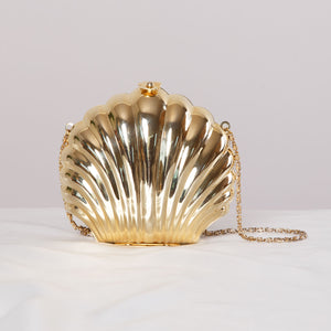 90s Gold Shell Purse