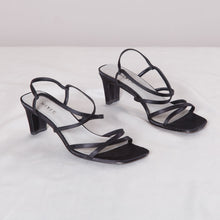 Load image into Gallery viewer, 90s Strappy Black Low Heel