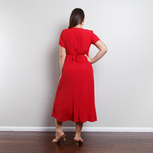 Load image into Gallery viewer, Red 80s Midi Dress