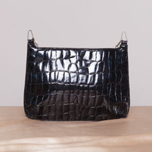 Load image into Gallery viewer, 2000s Black Bebe Purse with Silver Chain