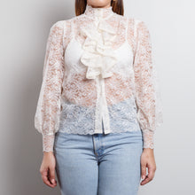 Load image into Gallery viewer, Sheer Victorian Lace Top