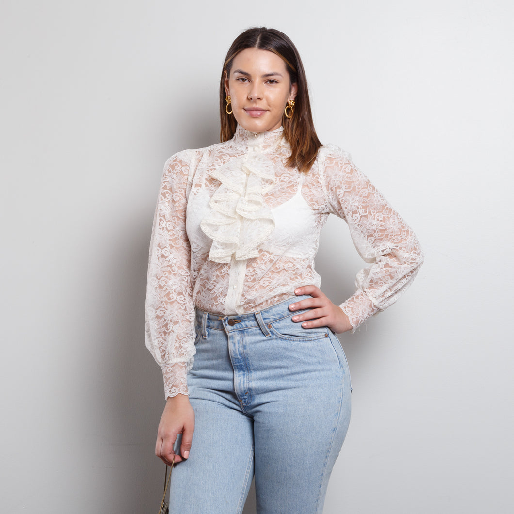 Sheer Victorian Lace Top