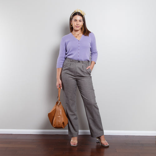 Wool Gingham Trousers