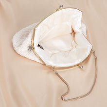 Load image into Gallery viewer, White Beaded Teardrop Clutch