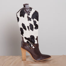 Load image into Gallery viewer, Cowhide High Heel Boots