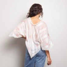 Load image into Gallery viewer, Antique White Floral Poncho