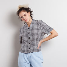 Load image into Gallery viewer, Vintage Gingham Button Up