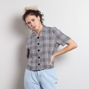 Vintage Gingham Button Up