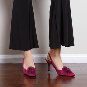 Purple Pointed Slingbacks