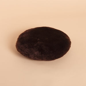 Leather Furry Beret