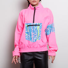 Load image into Gallery viewer, 90s Neon Windbreaker