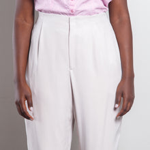 Load image into Gallery viewer, 100% Silk High Waisted Off White Trousers