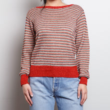 Load image into Gallery viewer, 90s Metallic Red Sweater