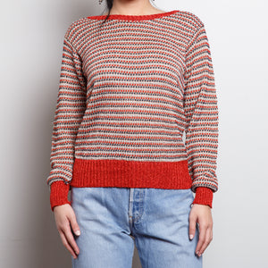 90s Metallic Red Sweater