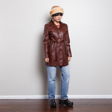 Load image into Gallery viewer, Leather Trench Coat