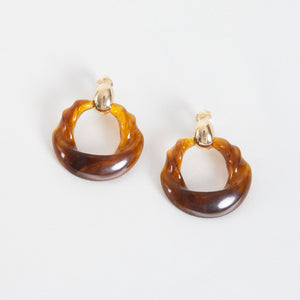 Vintage Clip On Resin Earrings
