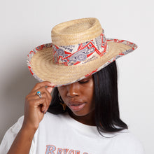 Load image into Gallery viewer, Straw Budweiser Hat