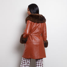 Load image into Gallery viewer, Vintage Leather Parka with Fur Lining