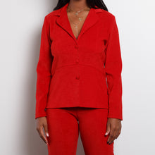 Load image into Gallery viewer, 80s Red Velvet Suit