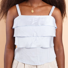 Load image into Gallery viewer, Tiered Baby Blue Sleeveless Top
