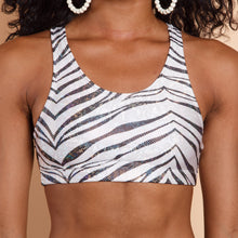 Load image into Gallery viewer, 80s Zebra Sports Bra
