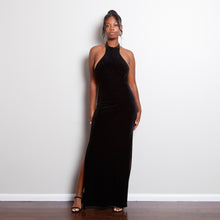 Load image into Gallery viewer, Black Velvet 90s Dress