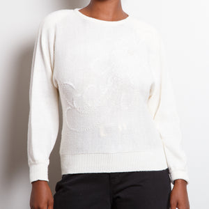 Ivory 80s Sweater